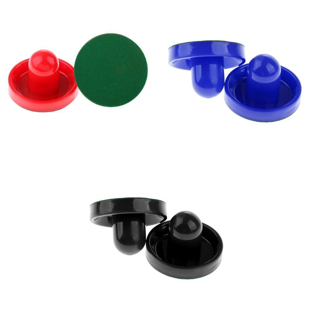 MagiDeal 6Pcs Plastic Air Hockey Pucks and Pushers Goal Handles Paddles Replacement for Game Tables, Equipment, Accessories non-brand