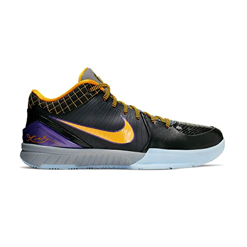 Nike Kobe IV Protro Basketball Shoes (M11.5/W13, Black/Purple)