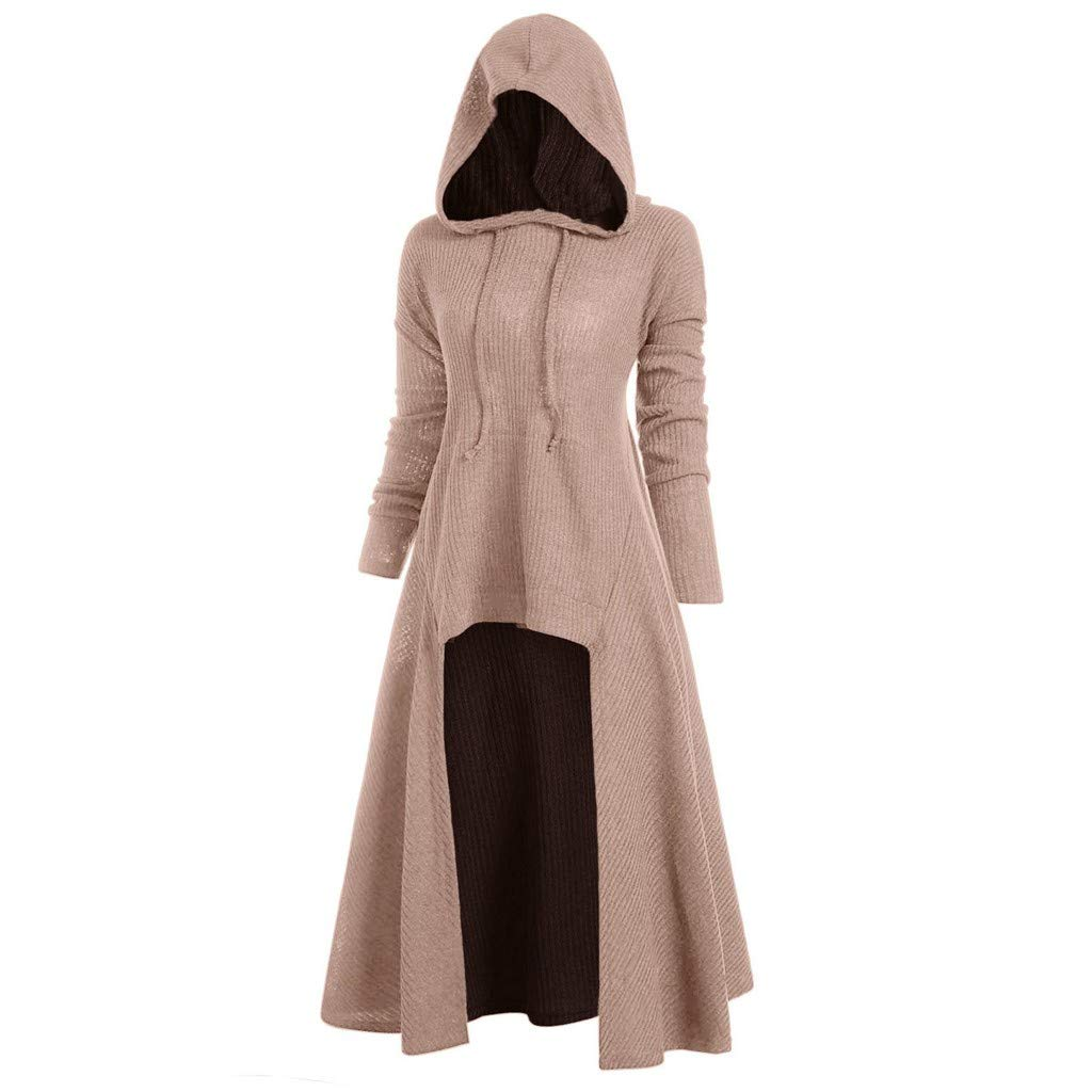 Cuekondy Vintage Cloak,Womens High Low Sweater Novelty Hooded Sweatshirt Coat Casual Loose Hoodies Dress Cloak Costumes by Cuekondy