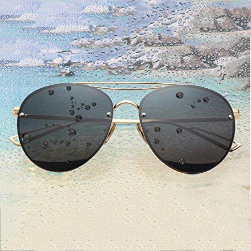 frame mercury Corea WLHW Gold Resina sol Silver larga Gafas polarizadas Personalidad UVB Resplandor frame gray Color de UVA Cara black 6xgwSxZ