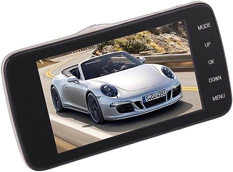 Car Auto 4.0 pulgadas Full HD 1080P Car DVR Camera Recorder Dual Lens GPS Logger (Color: negro principal)