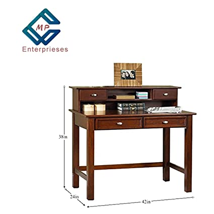 MP Enterprieses Sheesham Wood Writing Study Table for Home | Study Dask | Brown
