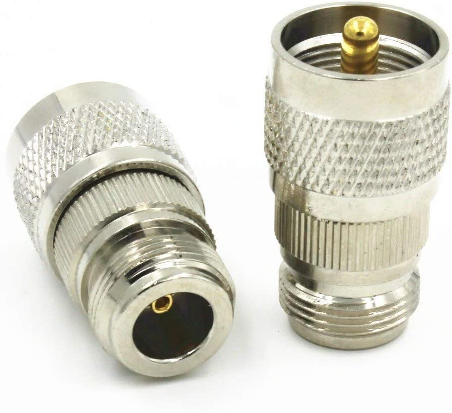 Mercury/_Group 50PCS PL259 PL-259 UHF Male Plug to N Female Jack RF Coaxial Adapter Connector RF Coaxial Connectors