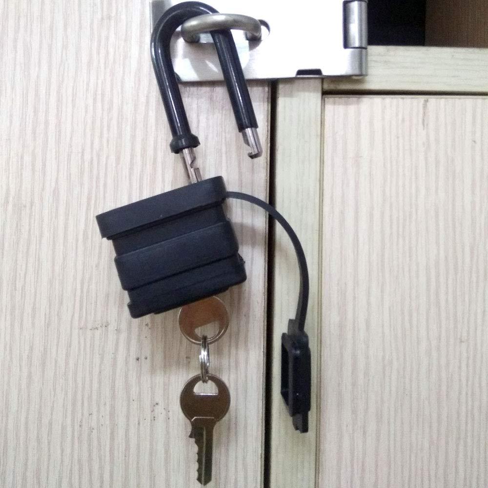 Candado impermeable laminado, cuerpo ancho: candado para exteriores resistente a la intemperie, candado de bloqueo maestro, cerradura de acero laminado ...
