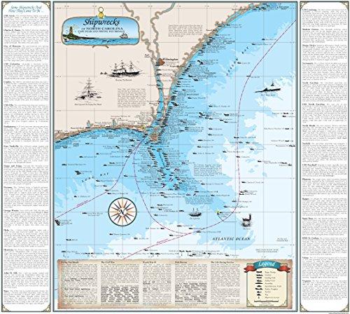 North Carolina Shipwreck Chart: Cape Fear & Frying Pan Shoals (Paper)