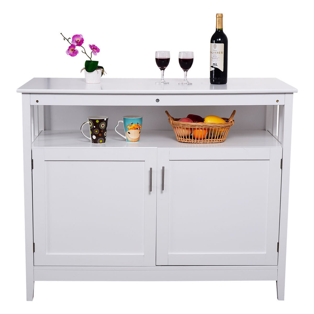 Modern Kitchen Storage Cabinet Buffet Server Table Sideboard Dining Wood by Heaven Tvcz