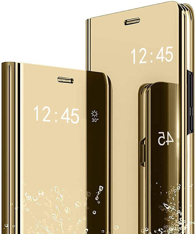 Amazon.com: ZYZXQH Samsung Galaxy A71 5G Mirror Phone Case,PU Leather Shockproof Flip Phone Shell,Slim Anti-Scratch Clear View Electroplate Full Body Protective Kickstand Cover for Galaxy A71/A71 5G Gold: Electronics