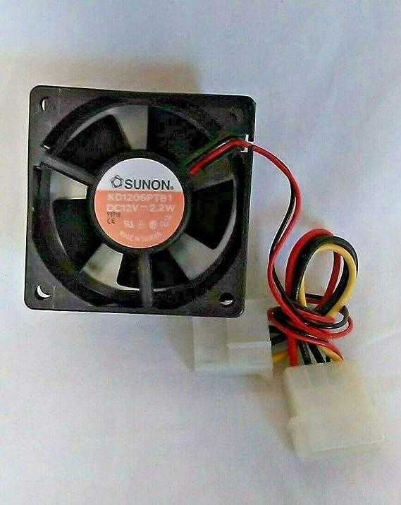 NoRib 2 Wire SANYO Denki 109R0624S4021 DC Fan Sq60x25mm 24VDC 1.92W Plastic F//B 23CFM