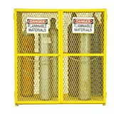 Durham Steel/Iron Vertical Cylinder Storage Cabinet, EGCVC18-50, 18 Cylinder Capacity, 30'' Length x 60'' Width x 71-3/4'' Height, Yellow Powder Coat Finish