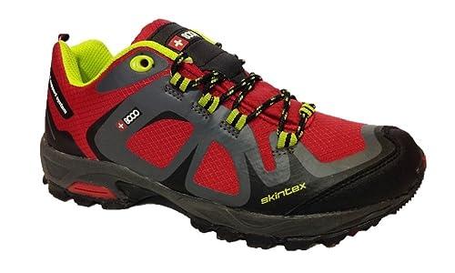 +8000 Botas de senderismo para hombre Rojo rojo: Amazon.es: Zapatos y complementos