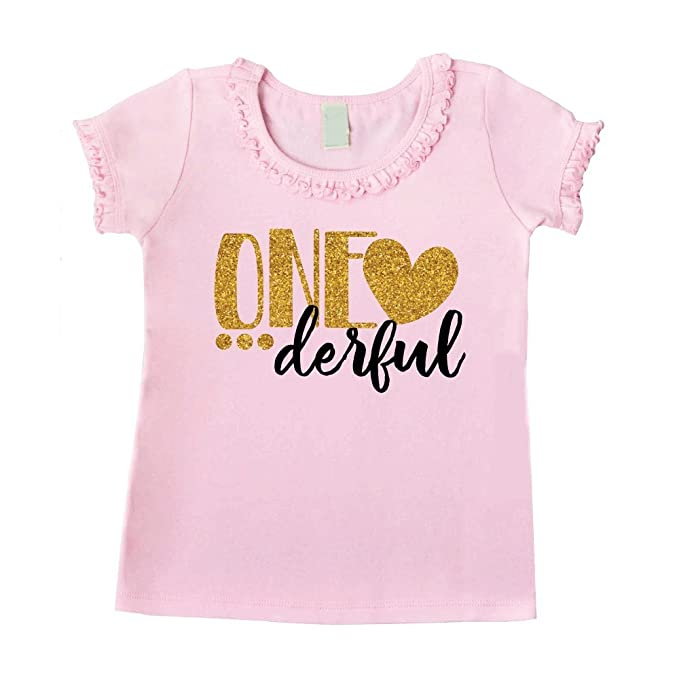 Amazon One Year Old Birthday Outfit Girl1st Shirt