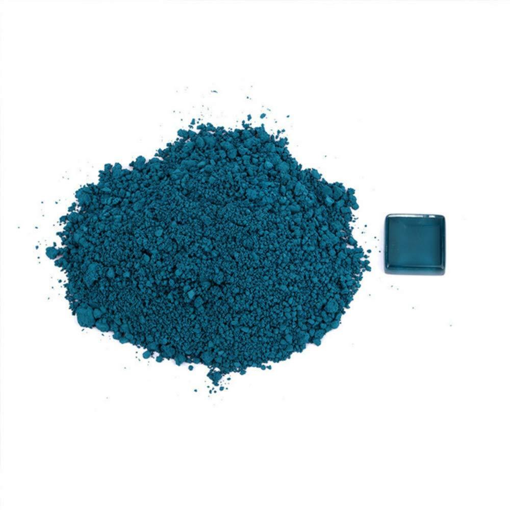Glaze with inorganic color blue ceramic pigment powder