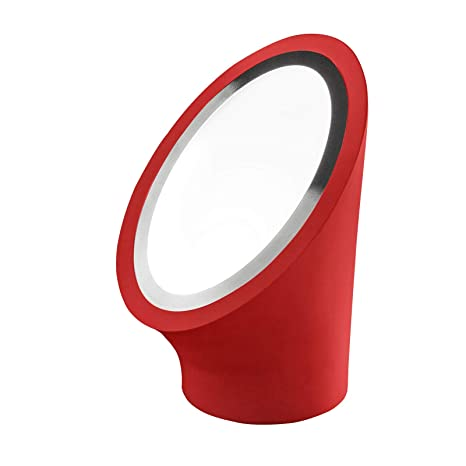 masiero lámpara de mesa Mabell cromo rojo a mano, Made in Italy, DIMM Bar