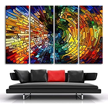 Amazon.com: Extra Large Colorful Abstract Modern Wall Art Printed ...