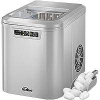 Kealive Machine à Glaçons, Quick Ice tech, Deux TailleFaire de la Glace en Seulement 6-10 Minutes, Réservoir d'eau 2,2 Litres, 12KG de glace par jour, Indicateurs LED [Classe énergétique A+]