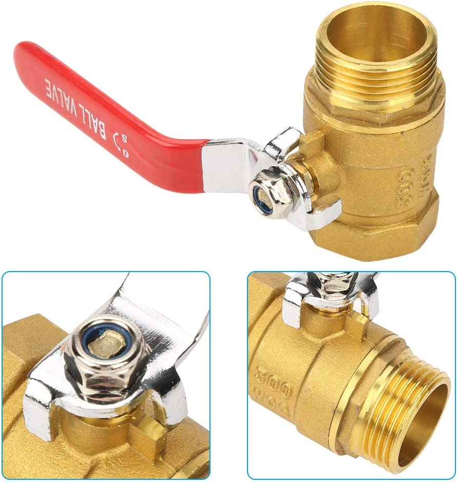 Jimdary Male and Female Thread DN25 Ball Valve, Pipe Ball Valve, 1 BSP DN25 for Rust Protection and Long Service Life for Extensive Industrial Use