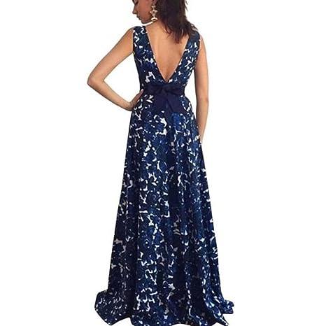 Vestido de mujer, Dragon868 Floral formal de boda larga fiesta de la mujer vestido: Amazon.es: Ropa y accesorios