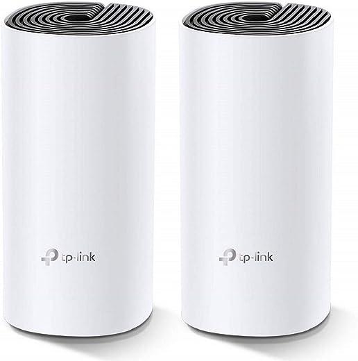 TP-Link AC1200 Multiroom Mesh Wifi-systeem, tot 260 vierkante meter en 100+ apparaten, naadloze roaming, 2 Gigabit-poorten (Deco M4(2-pack))