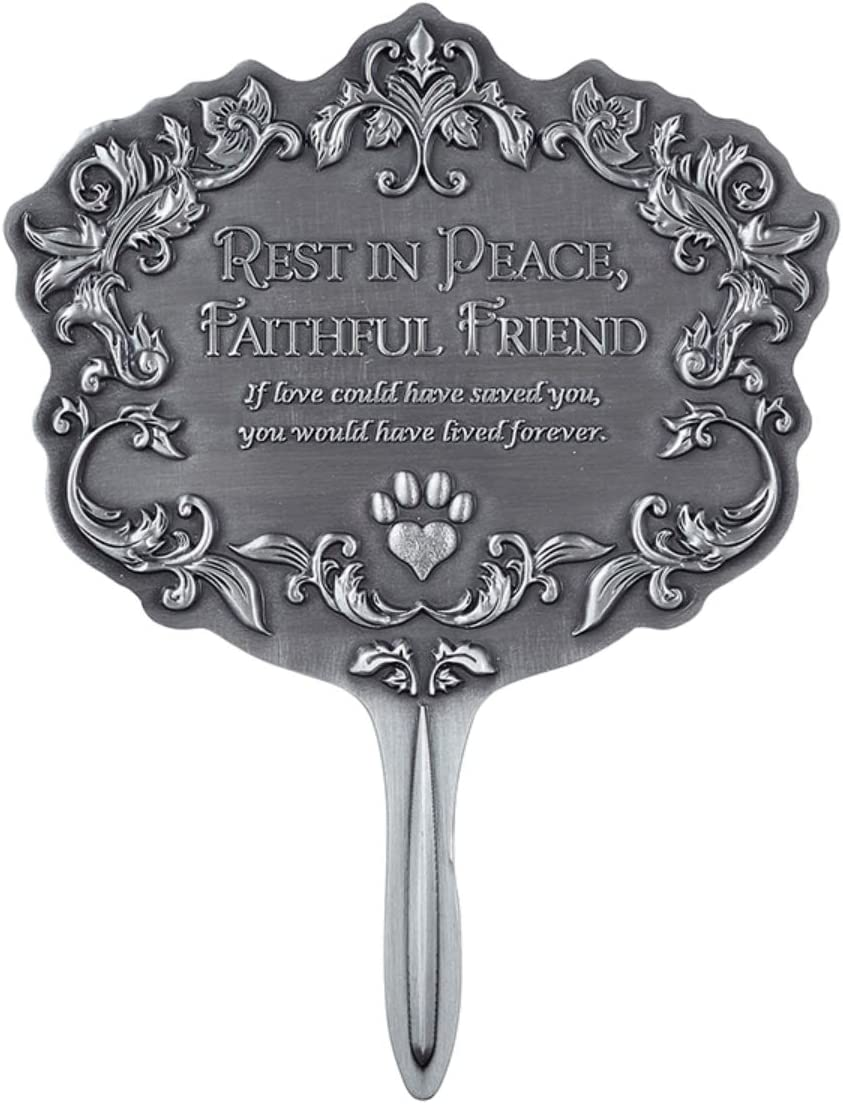 Pet Memorial Rest in Peace Garden Stake, 6.4 Inch
