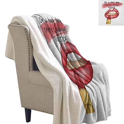 Make A Custom Blanket.Amazon Com Willsd Girls Custom Blanket Bad Day Good Make Up