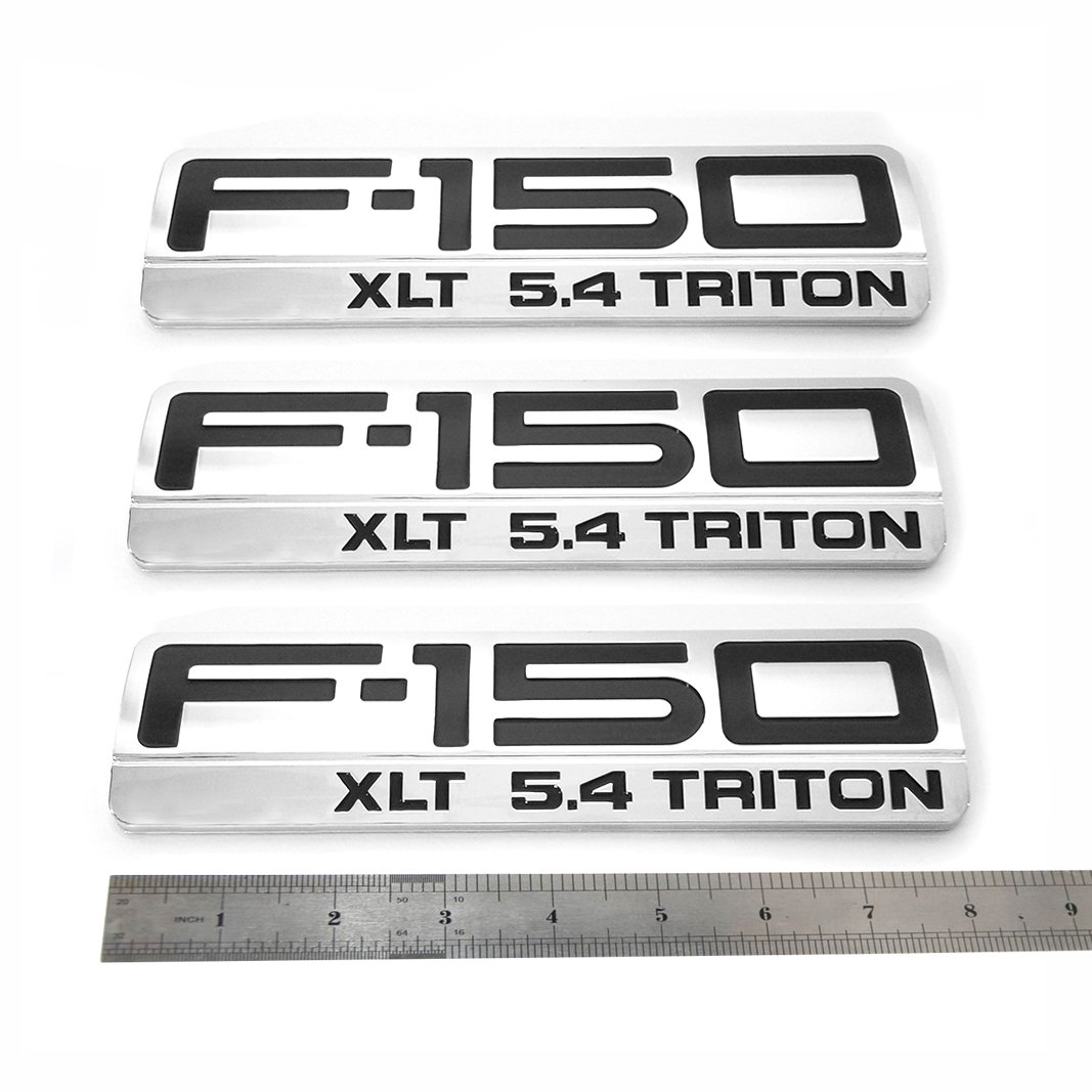 NEW OEM 2004-2008 F-150 XLT 5.4 Triton Chrome Fender Emblem Badge