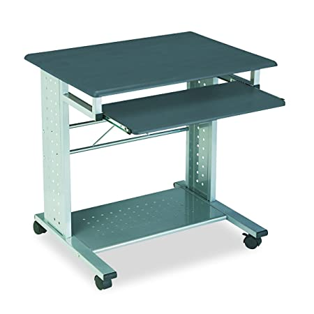 Tiffany Industries 945ANT Empire Mobile PC Cart with Keyboard Tray, 28-1 2 X 23 X 28-3 4, Metallic Gray
