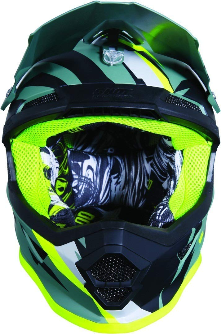SHOT Casco Cross Furious Score talla L caqui//Ne/ón//amarillo mate