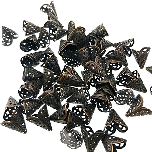 ree Bead Caps Cones For Jewelry Making (17mm fits 15mm) (Filigree Bead)