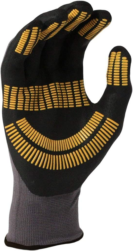 Stanley Unisex Fingerless Performance Glove Gray//Black//Yellow Size UK L EU Lge