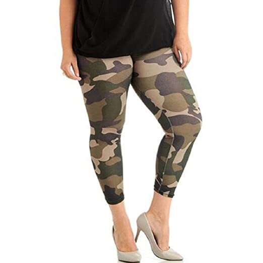 8440a20d338638 Image Unavailable. Image not available for. Color: Vovomay Plus Size  Camouflage Leggings ...