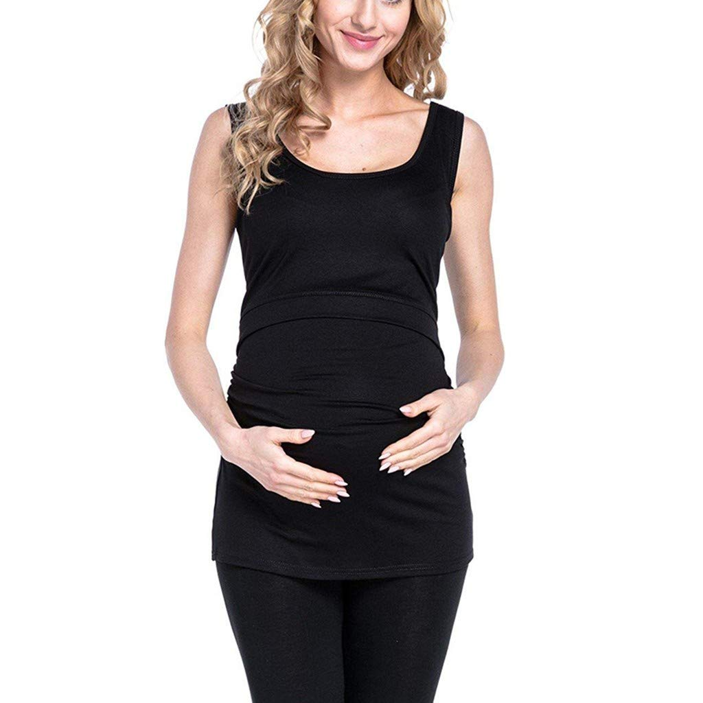 534d549219529 Amazon.com: Nihewoo Women's Maternity Nursing T Shirt Tops Breastfeeding  Clothes Pregnant Nursing Vest Tops Shirt Double Layer Blouse: Clothing