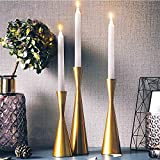 Long Candlesticks holders Tall modern simple Design Metal Candle Holder Candlestick Holder Nordic Living Room Dining Table Creative Retro Decoration Candelabras … (S, Brass)