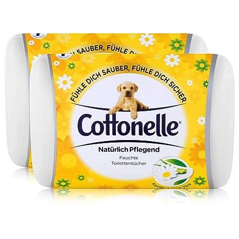 2 x Hakle algodón elle humedad los inodoros toallas de diseño de jarrón de & Aloe