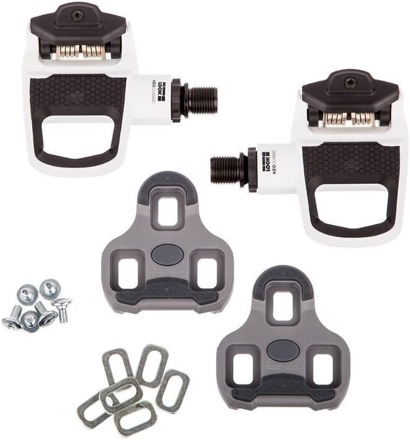 Look Keo Classic 2  Pedals White Clipless!!! W// Cleats And Hardware!!!!!