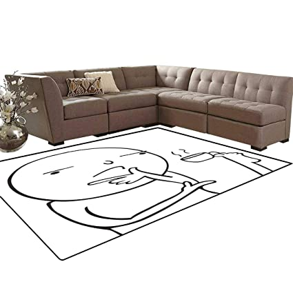 Marvelous Amazon Com Humor Room Home Bedroom Carpet Floor Mat Bralicious Painted Fabric Chair Ideas Braliciousco