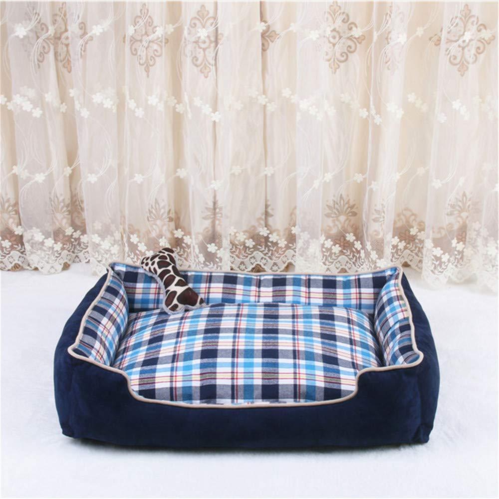 Wuwenw Pet Dog Bed Mats Calentamiento del Invierno Pet Kennels Camas para Perros Grandes Basket House Sofa Desmontable Y Lavable Pet Nest Cat Dog Beds 50X41X13Cm
