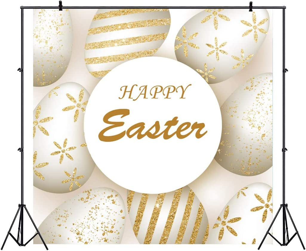 OFILA Happy Easter Backdrop 10x10ft Easter Party Photography Background Painted Eggs Spring Holidays Kids Easter Photobooth Children Portraits Background School Events Video Props