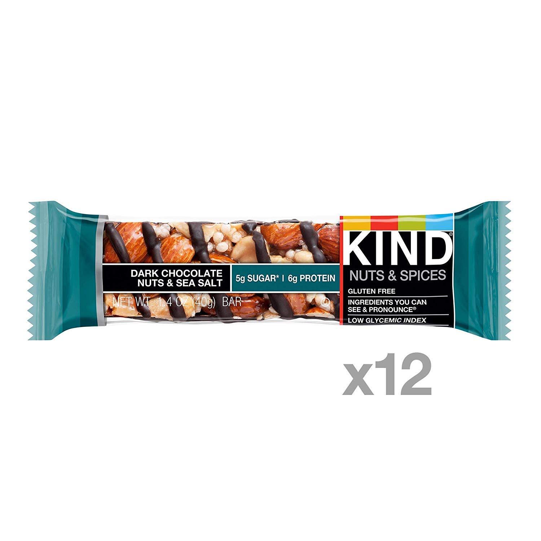 Bars, Dark Chocolate Nuts & Sea Salt, Gluten Free, Low Sugar, 1.4oz, 24 Count by KIND (Image #3)