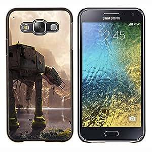 En En Batalla- Metal de aluminio y de plástico duro Caja del teléfono - Negro - Samsung Galaxy E5 / SM-E500