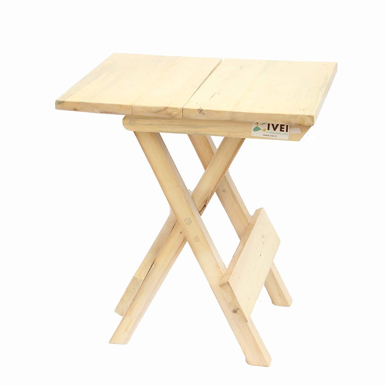 I Value Every Idea IVEI Woodenportable Folding Table - Medium (12in)