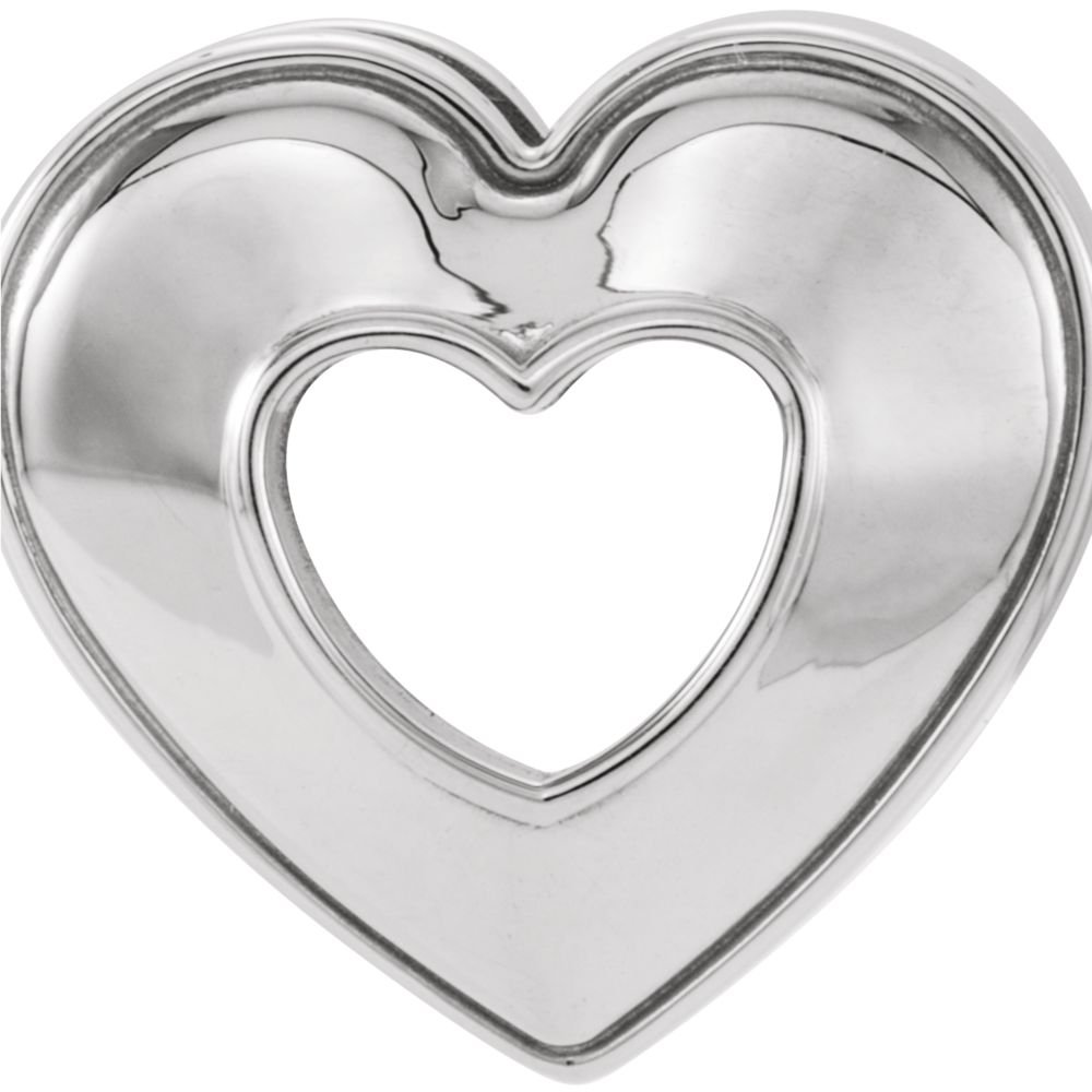 FB Jewels Continuum 925 Sterling Silver 14x14mm Heart Pendant Slide