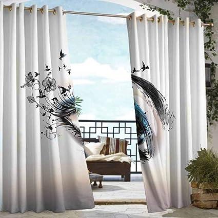 Amazon.com: DILITECK - Cortinas para porche, diseño de caras ...