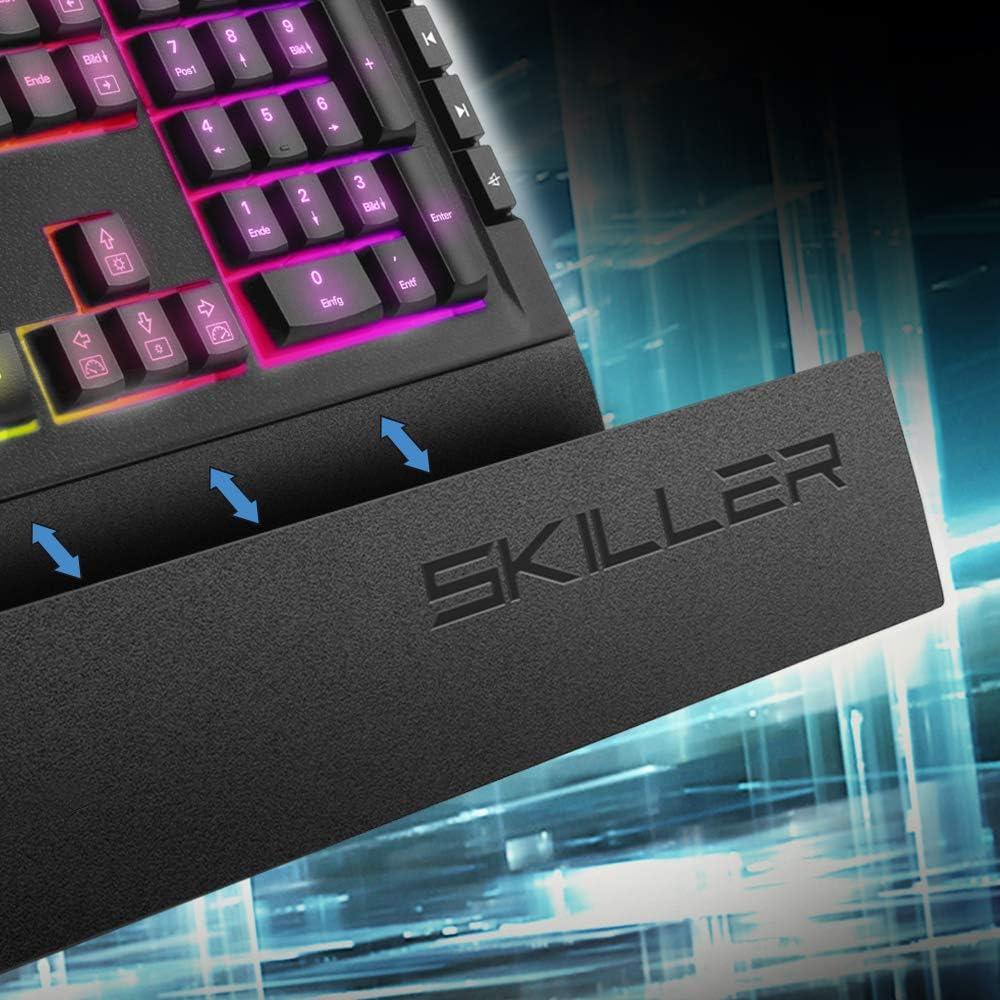 Sharkoon Skiller SGK5 Teclado USB QWERTZ Alemán Skiller SGK5, Estándar, USB, Interruptor mecánico, QWERTZ
