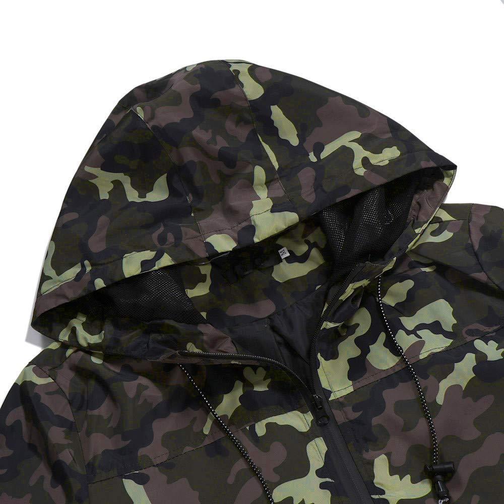 Mens Autumn Winter Zip Casual Camouflage Slim Pocket Fit Hoodies Durable Practical Jacket Coat Sunnywill Men Zip Casual Hoodie Coat