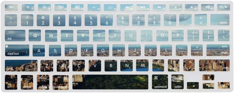 Keyboard Cover Skin for Home Views Clouds Silicone Keyboard Skin,13.3 inches