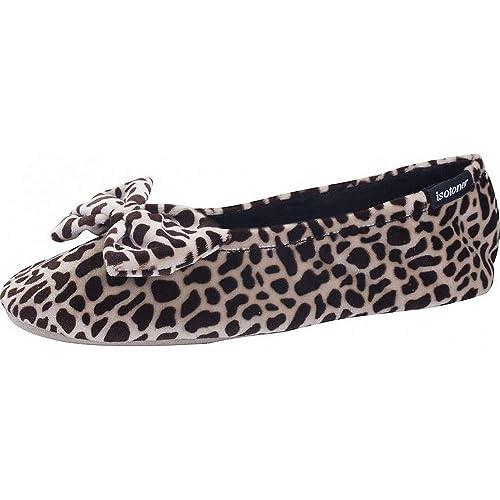 Zapatillas MUJER Terciopelo gran nudo Isotoner: Amazon.es: Zapatos y complementos