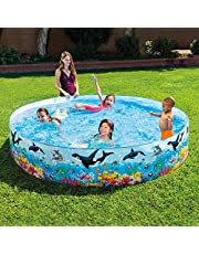Intex 8ft X 18inch Snapset Pool for Kids with Whales & Dolphins Design