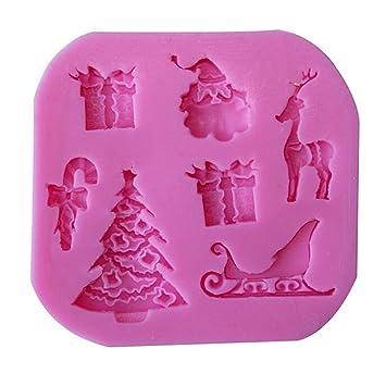 joyliveCY CY-Buity - Molde de silicona para repostería, diseño navideño, color al azar: Amazon.es: Hogar
