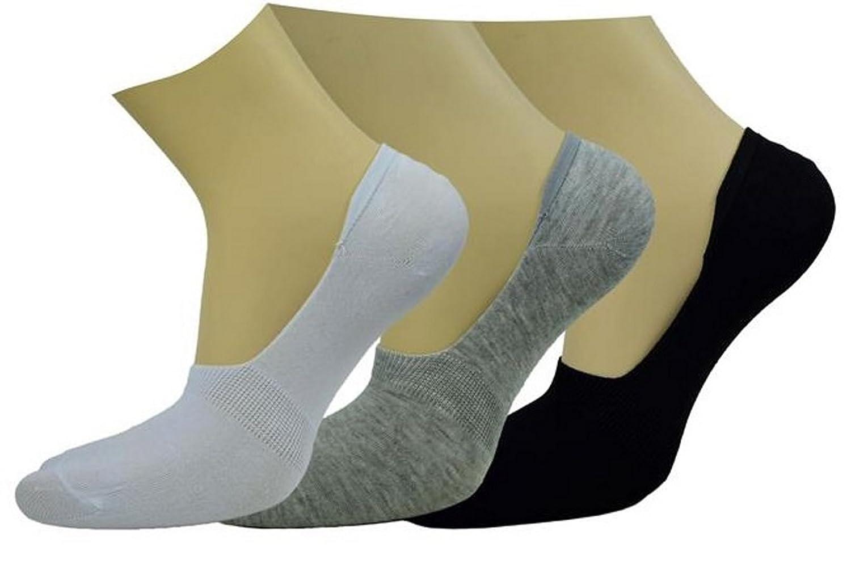 BestSale247 12pares Mujer Chica Hombre Calcetines Zapatillas Calcetines Algodón con antideslizante silicona, estampado 2, 40-46