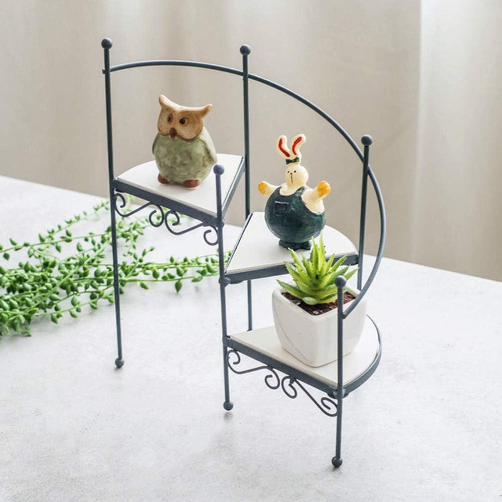 Futie arte antiguo escalera de caracol soporte de flor hogar carnoso pequeños ornamentos en maceta estante de piso: Amazon.es: Hogar